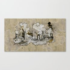 Cottbus Monument Skyline Illustration by carographic, Carolyn Mielke Canvas Print