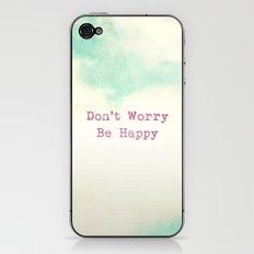Don't Worry, Be Happy iPhone & iPod Skin