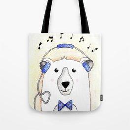 Polar Bear Jams Tote Bag