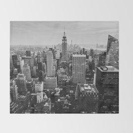 Black & White NYC Skyline Throw Blanket