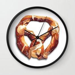 German Soft Pretzel Wall Clock