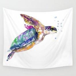 Hawaiian Sea Turtle, swimming turtle bathroom design Wall Tapestry