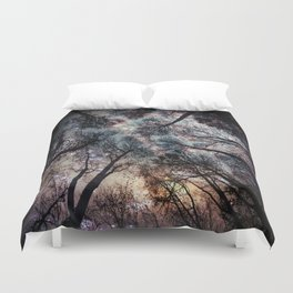 Starry Sky in the Forest Duvet Cover