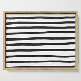 Black and white marker lines Serving Tray