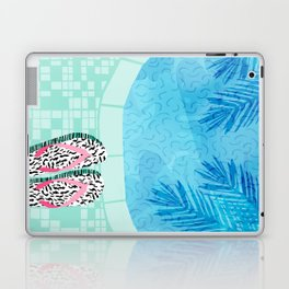 Go Time - resort palm springs poolside oasis swimming athlete vacation topical island summer fun Laptop & iPad Skin