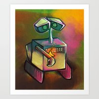 wall e Art Prints featuring WALL-E by tidlin