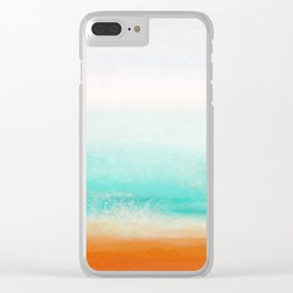 Waves and memories 02 Clear iPhone Case