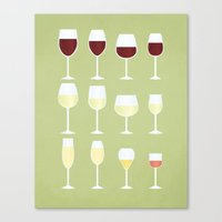 wine Canvas Prints featuring Wine by Sara Showalter
