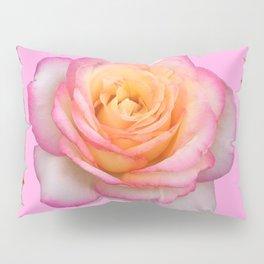 ROSE & RAMBLING THORNY CANES PINK BORDER PATTERNS Pillow Sham