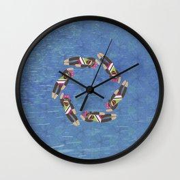Sock Monkey Water Ballet Vertical Wall Clock
