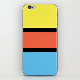 Diversions #1 in Yellow, Orange & Powder Blue iPhone Skin