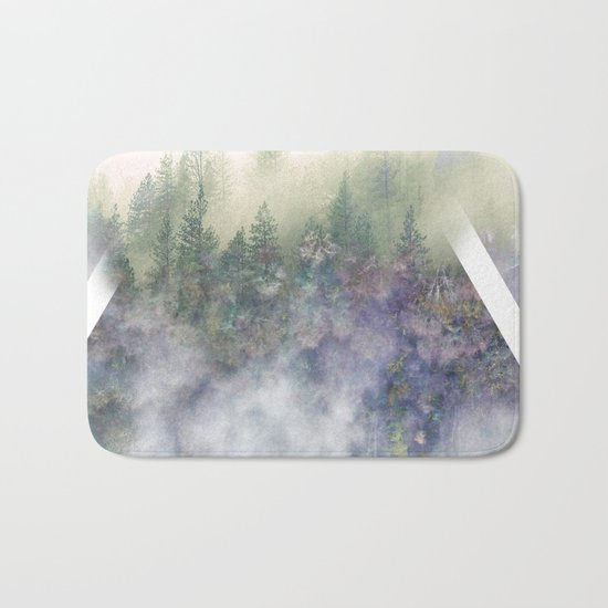 Foggy Mountains Bath Mat