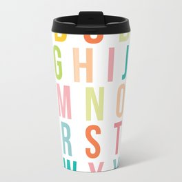 ABC's in Tropical Metal Travel Mug