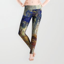 Poplars on the Bank of the Epte River by Claude Monet Leggings
