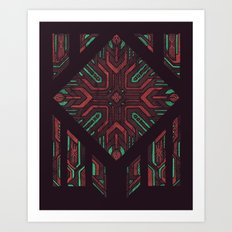 Compartmentalized Art Print