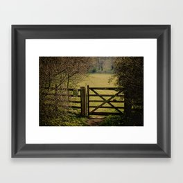 Gate To Bunkers 2 Framed Art Print