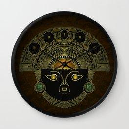 God Sun mask (INTI) Wall Clock