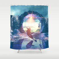 orca Shower Curtains featuring Orca by nicky2342