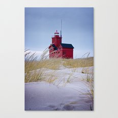 The Lighthouse Big Red in Holland Michigan No 0216 Canvas Print