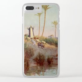 Kelly, Robert Talbot (1861-1934) - Egypt 1903, By still waters Clear iPhone Case