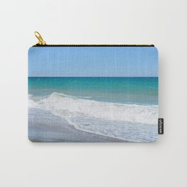 Sandy beach and Mediterranean sea Carry-All Pouch