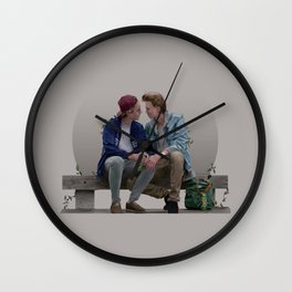 LOVE, EVAK. (light version) Wall Clock