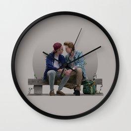 LOVE, EVAK. (light version) Wall Clock