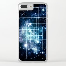 Galaxy Sacred Geometry: Golden Mean Clear iPhone Case
