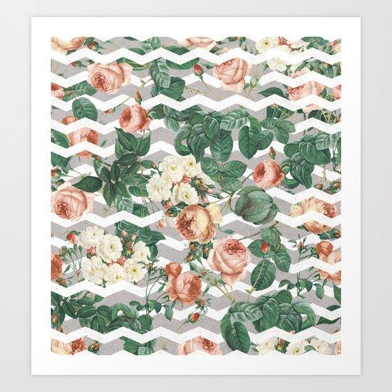 VINTAGE GARDEN III Art Print