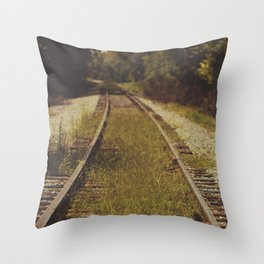 A path that leads to somewhere. Throw Pillow