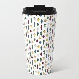 Holiday Ornament Pattern Travel Mug