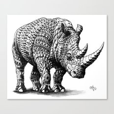 Rhinoceros Canvas Print