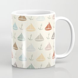 boats and anchors pattern Coffee Mug