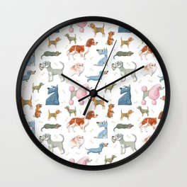 All About Dogs Wall Clock