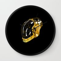 daft punk Wall Clocks featuring Daft Punk by Naje Anthony Hart