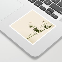 Oriental style bamboo branches 001 Sticker
