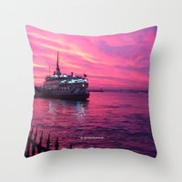 istanbul Throw Pillows featuring İSTANBUL by Şemsa Bilge (Semsa Fashion)