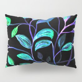 Do Not Go Into The Night, Red and Green Leaves Pillow Sham