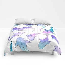 Galaxy Shark Print Comforters