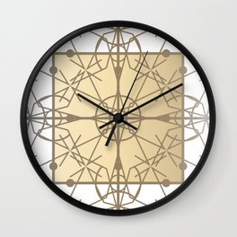 Chic Deco Gilded Filigree Wall Clock