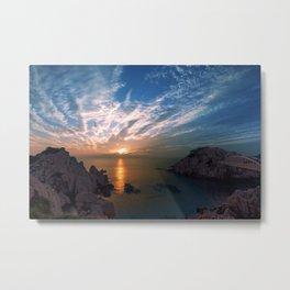 Cove Sunset Metal Print