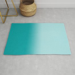 Ombre fade pastel blue trendy color way throwback retro palette 80s 90s style Rug