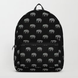Sparkly colourful silver mosaic Elephant Backpack