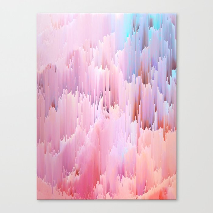 Delicate Glitches Canvas Print