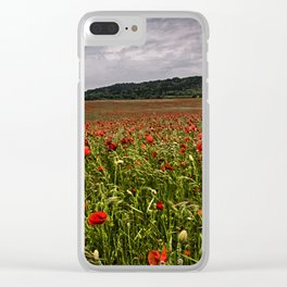 Boxley Poppy Fields Clear iPhone Case