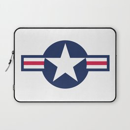 US Airforce style roundel star - High Quality image Laptop Sleeve