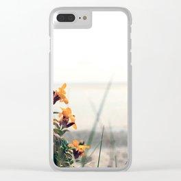 Lindisfarne beach Clear iPhone Case