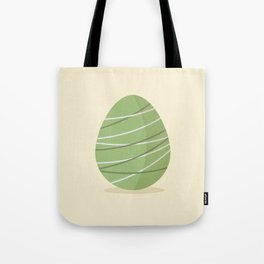 Easter egg with stripes Tote Bag