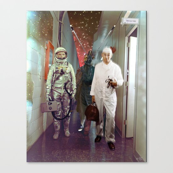 Space Check Collage Canvas Print