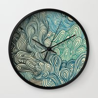 friday Wall Clocks featuring Friday Afternoon by Marcelo Romero